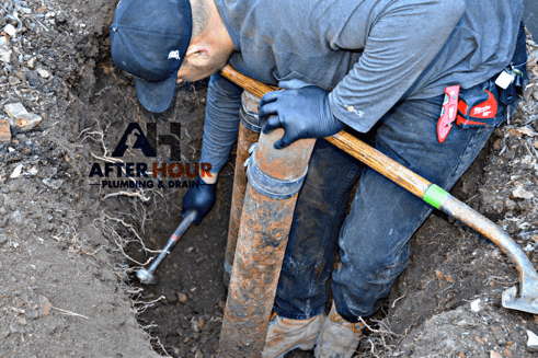 Trenchless sewer line process